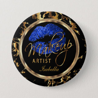 Professional Makeup Artist- Blue, Black and Marble Button