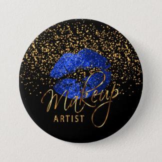 Professional Makeup Artist - Blue Lips Pinback Button
