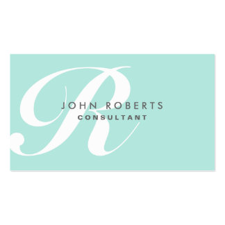 Professional Makeup Artist Elegant Monogram Blue Double-Sided Standard Business Cards (Pack Of 100)