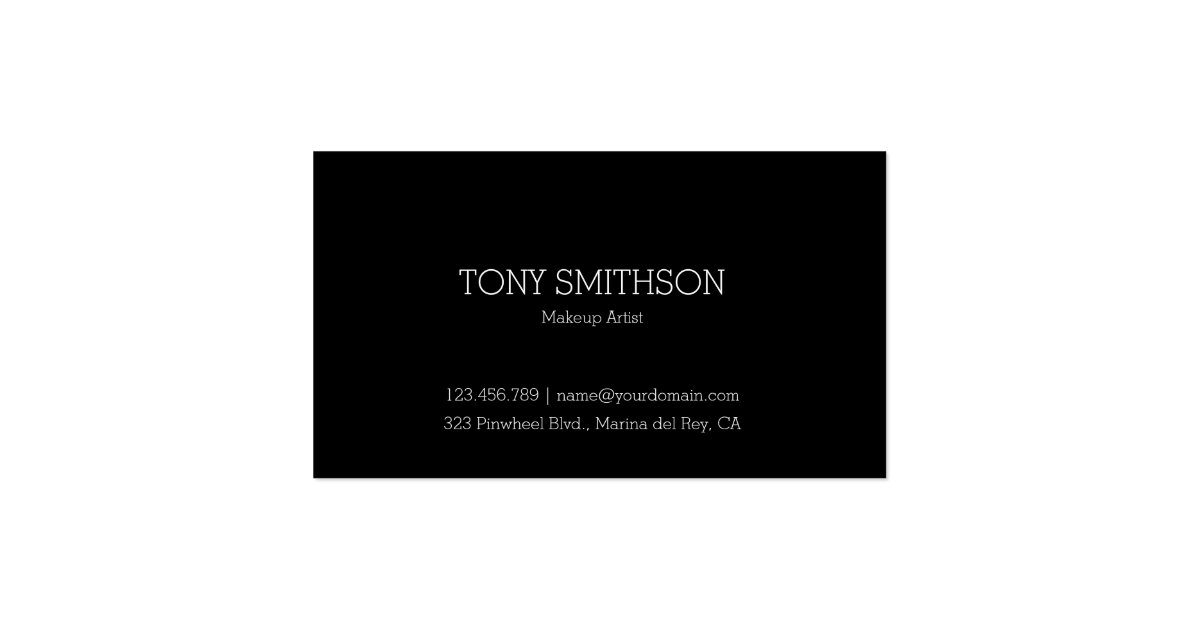 Professional makeup artist mua business card zazzle for Mua business cards