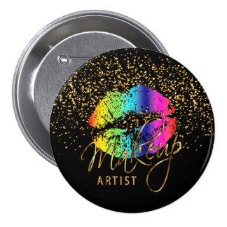 Professional Makeup Artist - Rainbow Lips Button