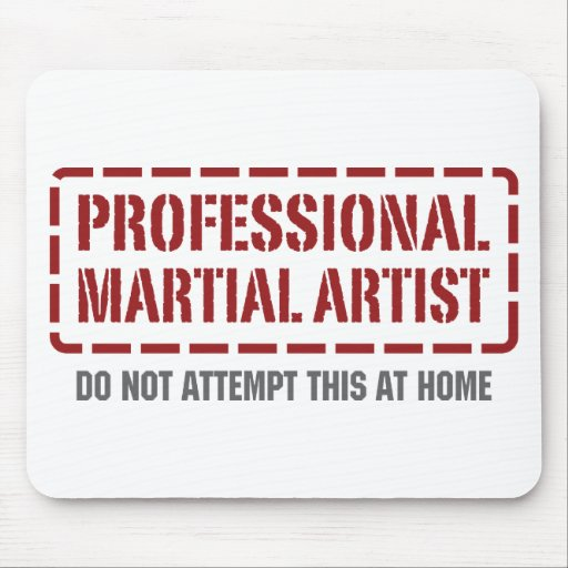 Professional Martial Artist Mouse Pad