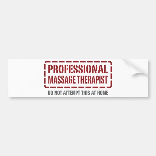 Professional Massage Therapist Car Bumper Sticker