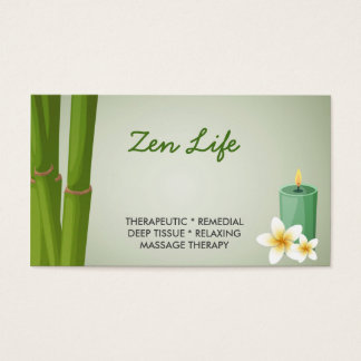 Professional Massage Therapy Business Card