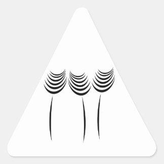 Professional Master Gardener Floral Fashion Logo Triangle Sticker