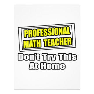 Professional Math Teacher...Joke Flyer