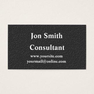 Professional matte black business card