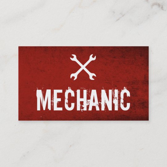 Professional mechanic automotive business cards zazzle professional mechanic automotive business cards reheart Gallery