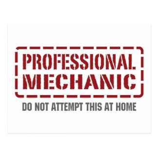 Professional Mechanic Postcard