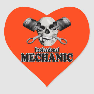 Professional Mechanic Heart Sticker