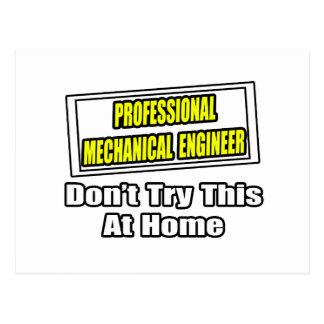 Professional Mechanical Engineer...Joke Postcard