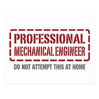 Professional Mechanical Engineer Postcard