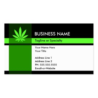 Professional Medical Cannabis Business Card
