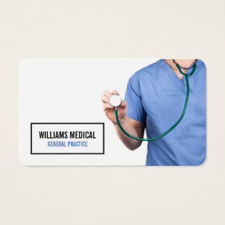 Professional Medical Practice Health Clinic Business Card