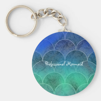 Professional Mermaid Abstract Scales Keychain