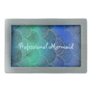 Professional Mermaid Abstract Scales Rectangular Belt Buckle