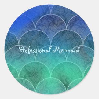 Professional Mermaid Classic Round Sticker