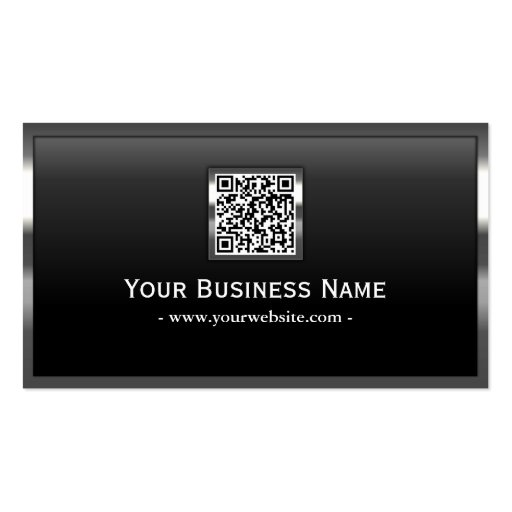 Professional Metal Border QR Code Business Card
