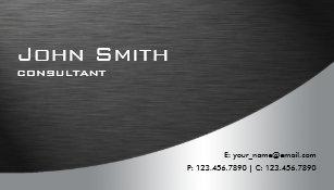 Professional business cards zazzle professional metal elegant modern plain black business card colourmoves