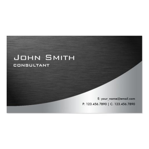 Professional Metal Elegant Modern Plain Black Business Cards