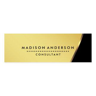 Professional Metal Elegant Modern Plain Black Mini Business Card