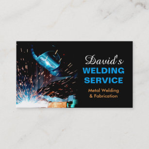 Contractor business cards templates zazzle professional metal welding fabrication contractor business card colourmoves