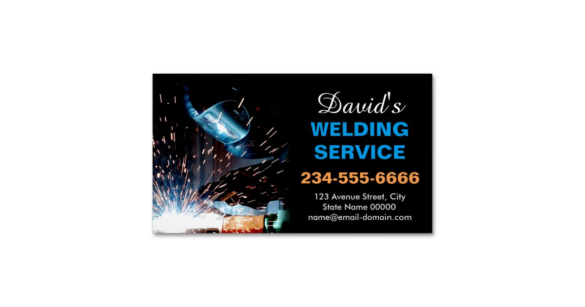 Professional Metal Welding Fabrication Contractor Business Card ...