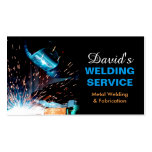 Professional Metal Welding Fabrication Contractor Double-Sided Standard Business Cards (Pack Of 100)