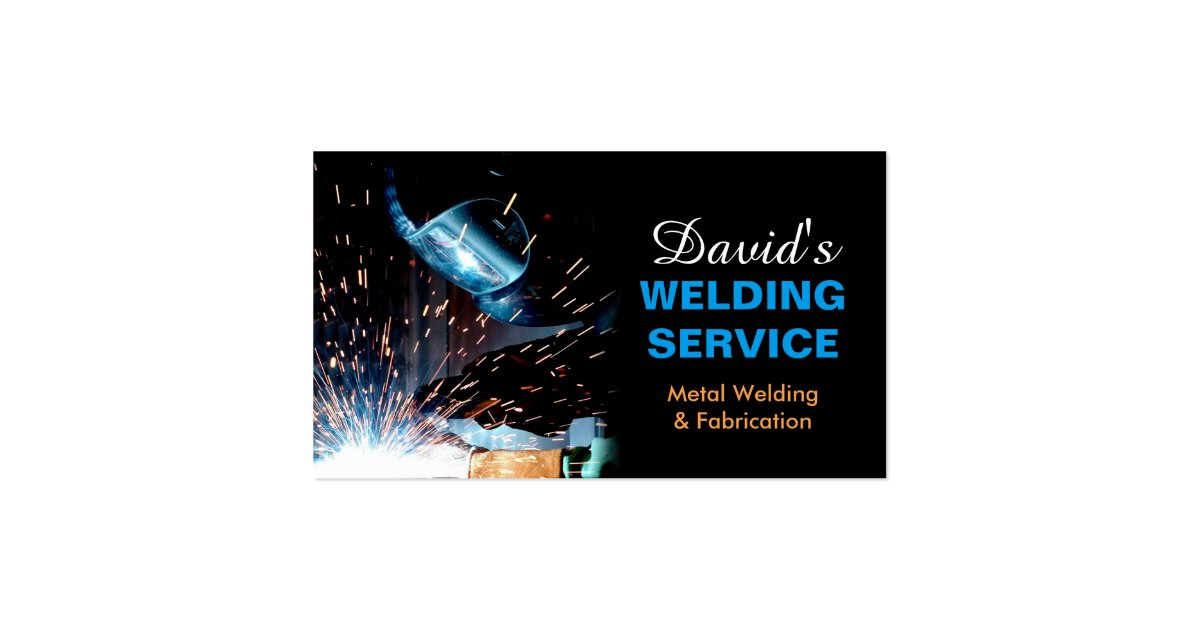 Professional metal welding fabrication contractor double for Welding business card ideas