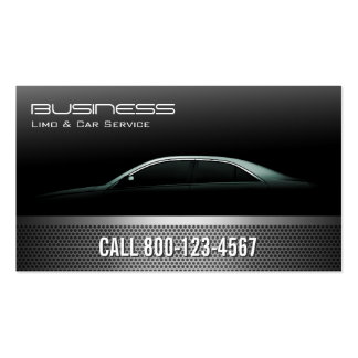 Professional Metallic Limo & Taxi Service Business Card