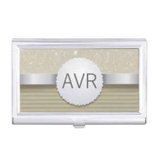 Professional metallic Luxury Sparkle design Business Card Case