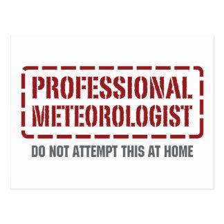 Professional Meteorologist Postcard