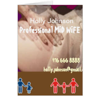 Professional MIDWIFE : Replace Text n Image Greeting Card