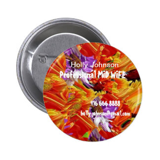 Professional MIDWIFE : Replace Text n Image Pinback Button