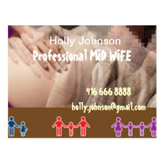 Professional MIDWIFE : Replace Text n Image Postcard