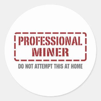Professional Miner Classic Round Sticker