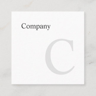 Professional Minimal Typo B&W Square Business Card