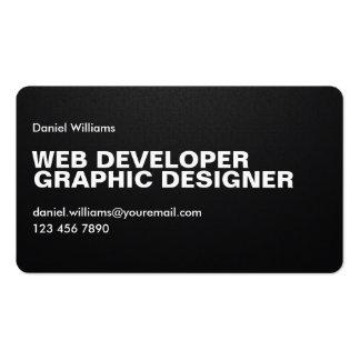 Professional Minimal Unique Pixelated Web Designer Business Card