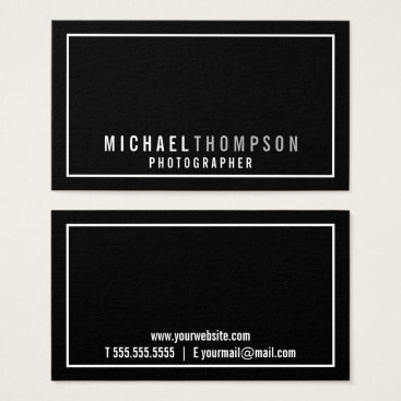 manadesignco Professional Minimalist Black and White Business Card