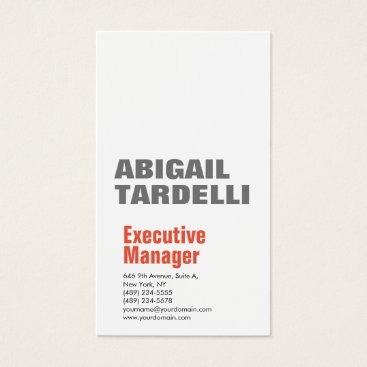 Lawyer Themed Professional minimalist bold modern grey white business card