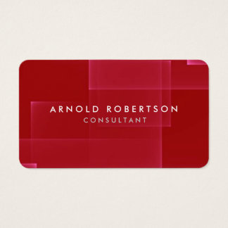 Professional Minimalist Dark Red Artistic Chic Business Card