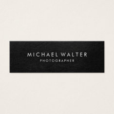Professional Minimalist Faux Leather Mini Business Card at Zazzle