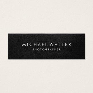 Professional Minimalist Faux Leather Mini Business Card