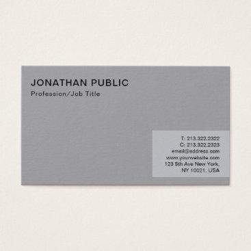 Lawyer Themed Professional Minimalist Modern Elegant Grey Plain Business Card