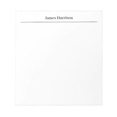 Professional Minimalist Plain Classical Notepad