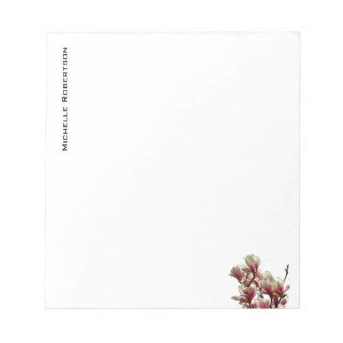Professional Minimalist Plain Modern Floral Notepad