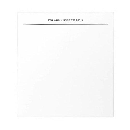 Professional Minimalist Plain Modern Notepad