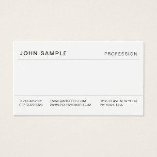 Professional Minimalist Simple Modern Elegant Business Card