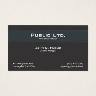 Professional Minimalistic Black Design Business Card
