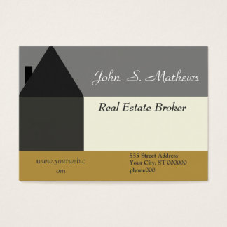 Professional Modern Abstract House Design Business Card